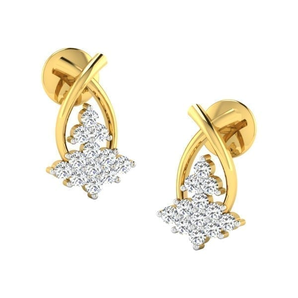 Diamond Earring in 18Kt Gold (1.800 gram) with Diamonds (0.24 Ct)