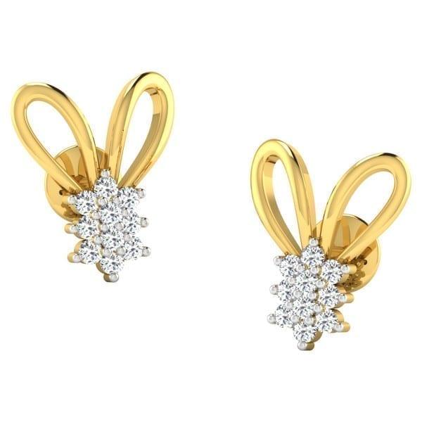 Diamond Earring in 18Kt Gold (2.100 gram) with Diamonds (0.20 Ct)