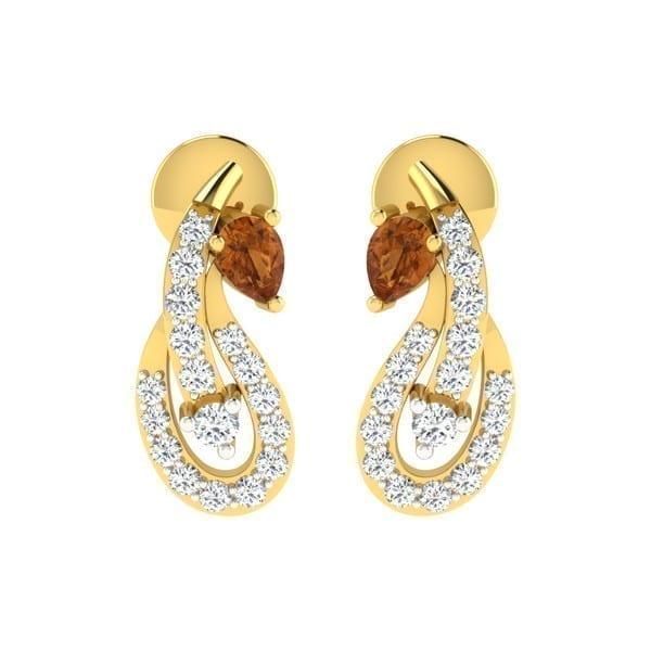 Diamond Earring in 18Kt Gold (1.500 gram) with Diamonds (0.18 Ct)