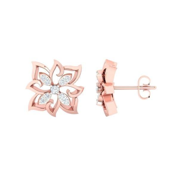 Diamond Earring in 18Kt Gold (4.500 gram) with Diamonds (0.17 Ct)