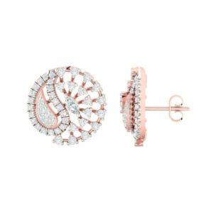 Diamond Earring in 18Kt Gold (6.500 gram) with Diamonds (0.83 Ct)