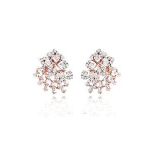 Diamond Earring in 18Kt Gold (4.500 gram) with Diamonds (0.71 Ct)