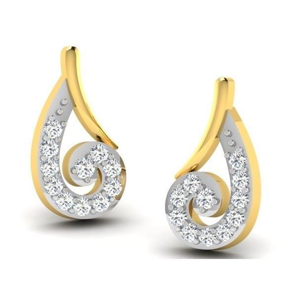 Diamond Earring in 18Kt Gold (1.630 gram) with Diamonds (0.10 Ct)