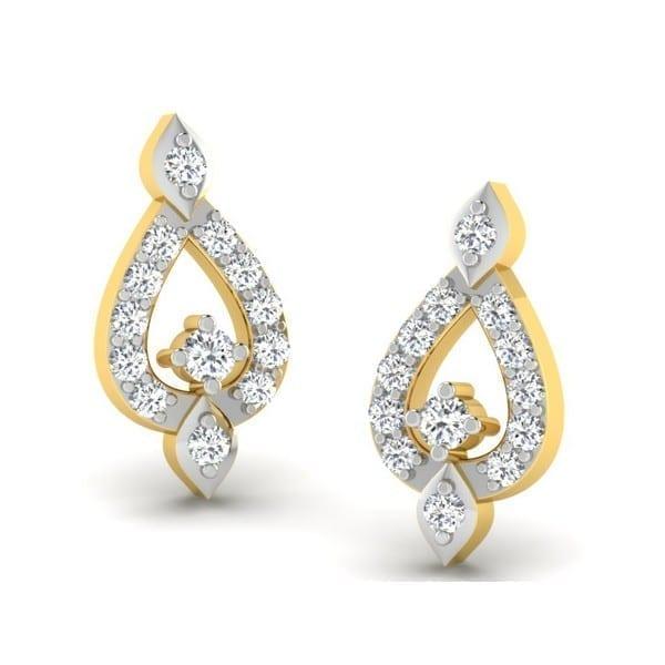 Diamond Earring in 18Kt Gold (1.900 gram) with Diamonds (0.20 Ct)
