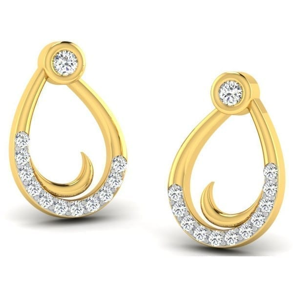 Diamond Earring in 18Kt Gold (1.800 gram) with Diamonds (0.11 Ct)