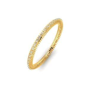 Diamond Bangles In 18Kt Gold(12.610 Gram)With Diamonds(1.11 Ct)