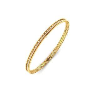 Diamond Bangles In 18Kt Gold(12.800 Gram)With Diamonds(1.00 Ct)