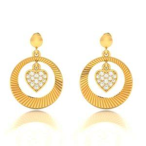 Diamond Earring in 18Kt Gold (3.560 gram) with Diamonds (0.21 Ct)