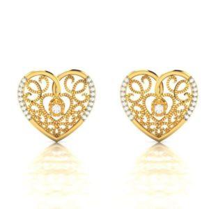 Diamond Earring in 18Kt Gold (4.250 gram) with Diamonds (0.14 Ct)