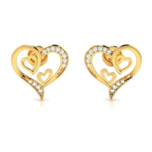 Diamond Earring in 18Kt Gold (1.560 gram) with Diamonds (0.08 Ct)