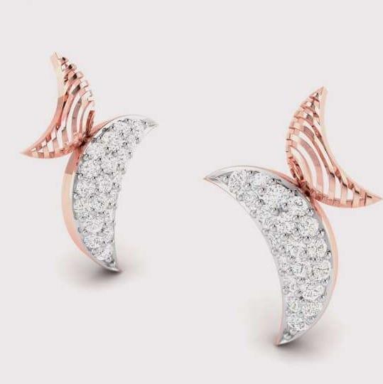 Diamond Earring in 18Kt Gold (1.670 gram) with Diamonds (0.16 Ct)