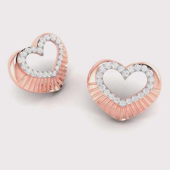 Diamond Earring in 18Kt Gold (2.820 gram) with Diamonds (0.19 Ct)