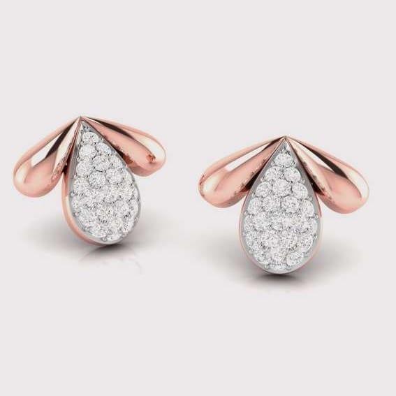 Diamond Earring in 18Kt Gold (2.370 gram) with Diamonds (0.24 Ct)