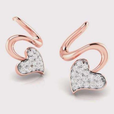Diamond Earring in 18Kt Gold (1.920 gram) with Diamonds (0.13 Ct)