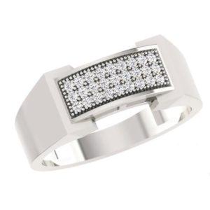 Diamond Ring In 18Kt Gold (7.560 Gram) With Diamonds (0.21 Ct) For Men
