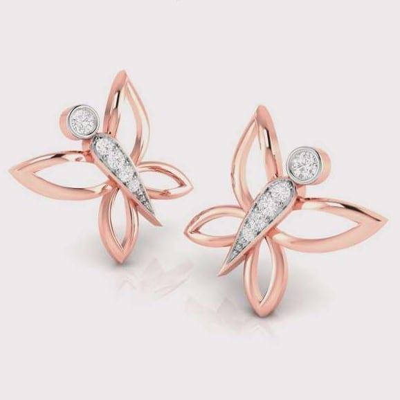Diamond Earring in 18Kt Gold (3.14 gram) with Diamonds (0.19 Ct)