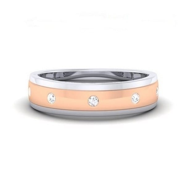 Diamond Ring in 18Kt Gold (3.450 gram) with Diamonds (0.13 ct) for Women