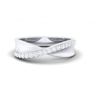 Diamond Ring in 18Kt Gold (3.150 gram) with Diamonds (0.26 Ct) for Women