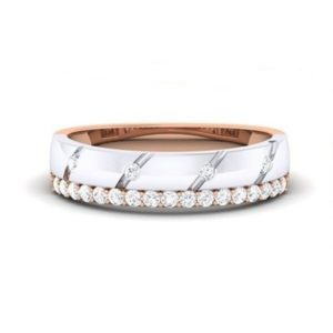 Diamond Ring in 18Kt Gold (3.450 gram) with Diamonds (0.27 Ct) for Women