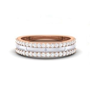 Diamond Ring in 18Kt Gold (3.400 gram) with Diamonds (0.50 Ct) for Women
