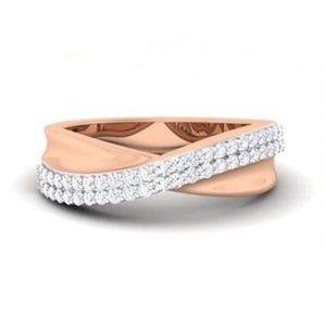 Diamond Ring in 18Kt Gold (3.970 gram) with Diamonds (0.41 Ct) for Women