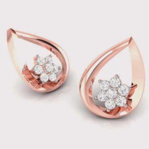 Diamond Earring in 18Kt Gold (1.620 gram) with Diamonds (0.17 Ct)