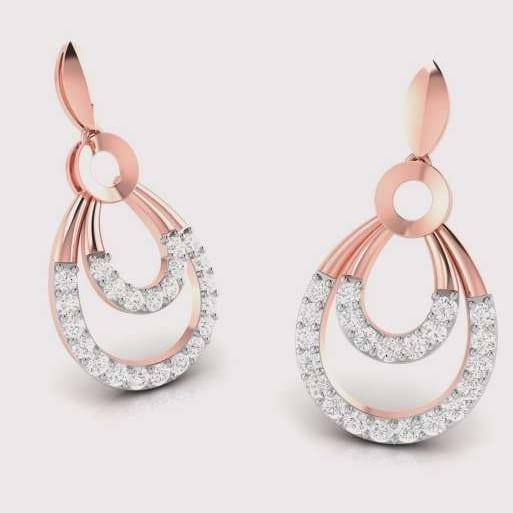 Diamond Earring in 18Kt Gold (2.190 gram) with Diamonds (0.20 Ct)