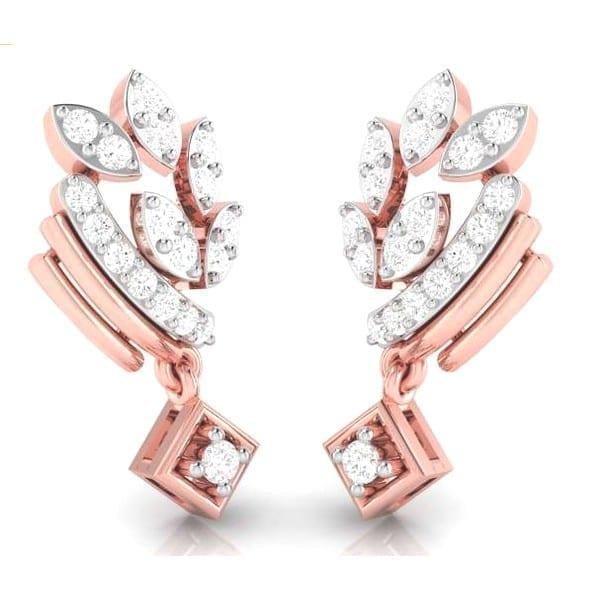 Diamond Earring in 18Kt Gold (3.500 gram) with Diamonds (0.22 Ct)