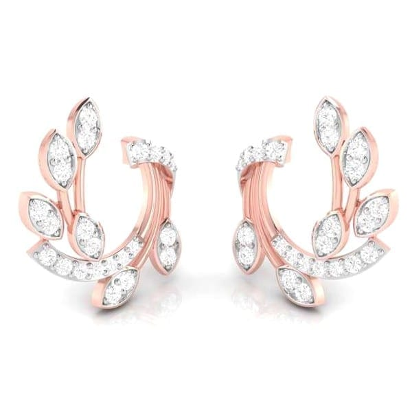 Diamond Earring in 18Kt Gold (3.250 gram) with Diamonds (0.25 Ct)