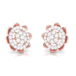 Diamond Earring in 18Kt Gold (3.200 gram) with Diamonds (0.45 Ct)