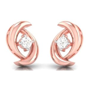 Diamond Earring in 18Kt Gold (1.800 gram) with Diamonds (0.10 Ct)