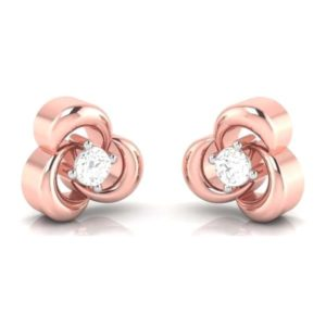 Diamond Earring in 18Kt Gold (2.300 gram) with Diamonds (0.12 Ct)