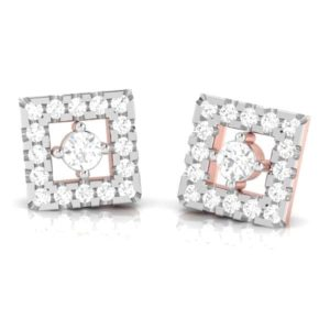 Diamond Earring in 18Kt Gold (1.800 gram) with Diamonds (0.18 Ct)
