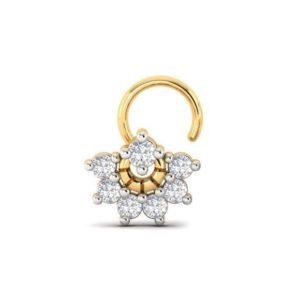 Diamond Nose Ring (0.17 ct), 18 Kt Yellow Gold Jewellery