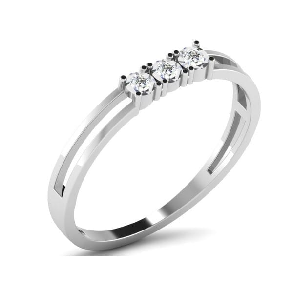 Diamond Ring in 18Kt Gold (1.240 gram) with Diamonds (0.03 Ct) for Women