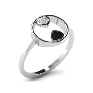 Diamond Ring in 18Kt Gold (1.640 gram) with Diamonds (0.06 Ct) for Women