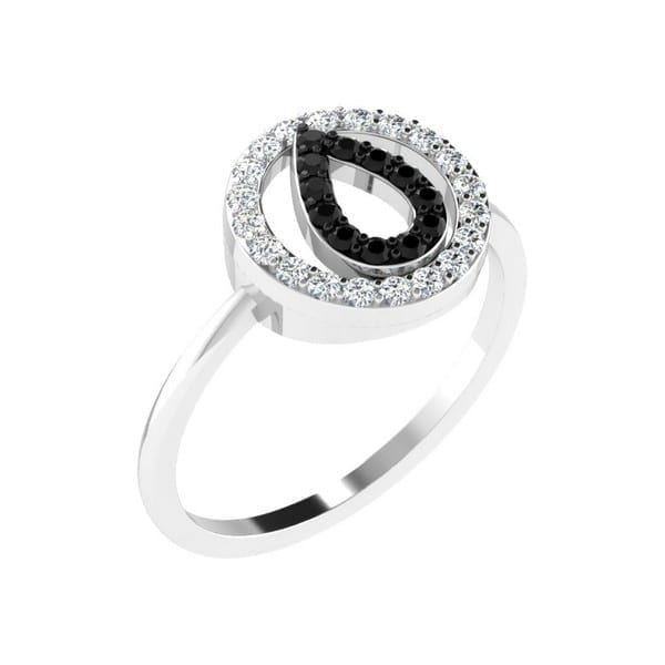 Diamond Ring in 18Kt Gold (1.810 gram) with Diamonds (0.20 Ct) for Women
