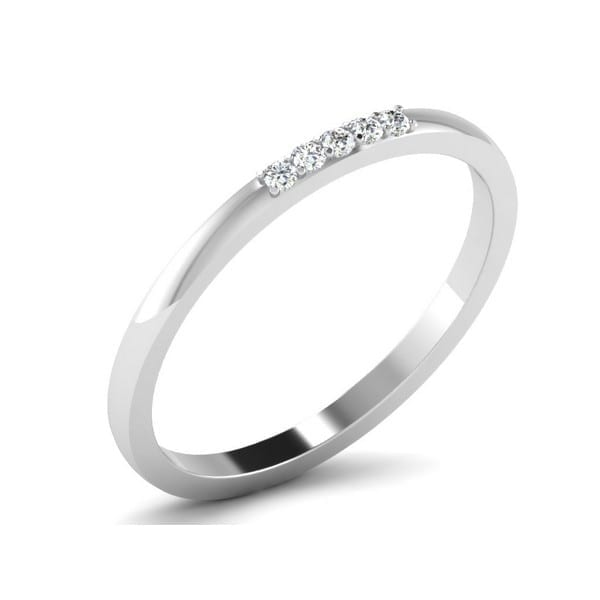 Diamond Ring in 18Kt Gold (1.190 gram) with Diamonds (0.07 Ct) for Women