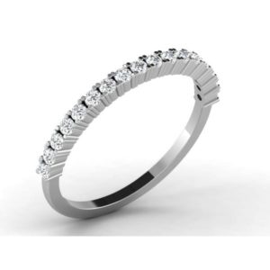 Diamond Ring in 18Kt Gold (1.530 gram) with Diamonds (0.34 Ct) for Women