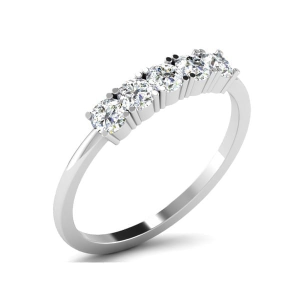 Diamond Ring in 18Kt Gold (1.800 gram) with Diamonds (0.50 Ct) for Women
