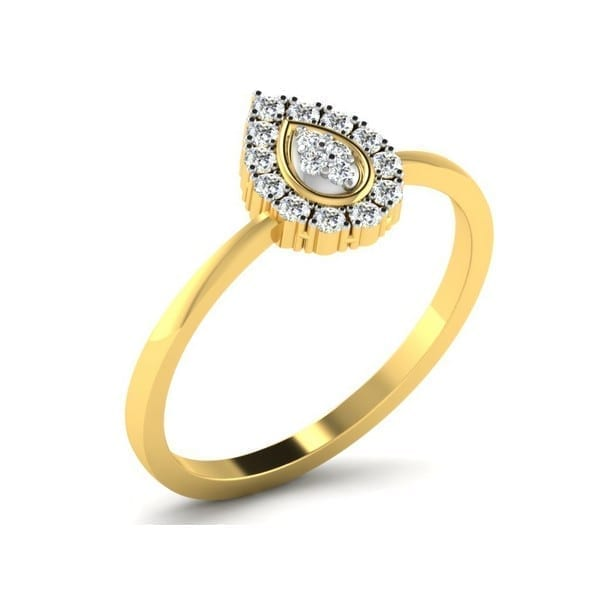 Diamond Ring in 18Kt Gold (1.770 gram) with Diamonds (0.15 Ct) for Women