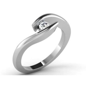 Diamond Ring in 18Kt Gold (3.780 gram) with Diamonds (0.10 Ct) for Women