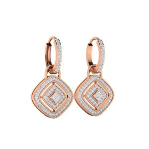 Diamond Earring in 18Kt Gold (6.500 gram) with Diamonds (0.64 Ct)