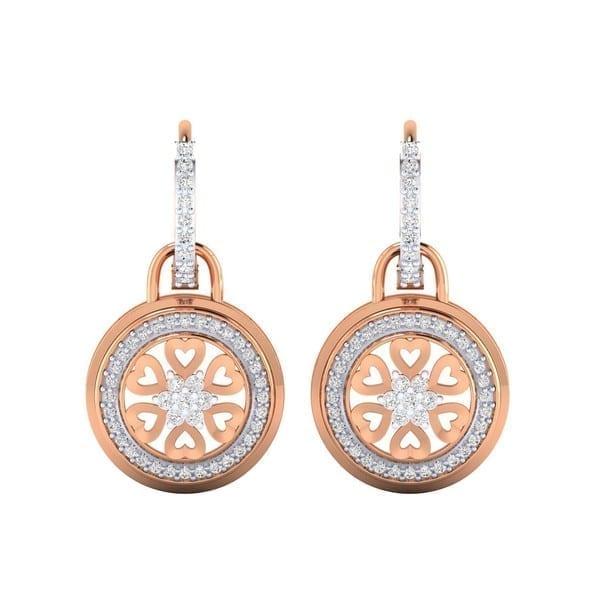 Diamond Earring in 18Kt Gold (7.000 gram) with Diamonds (0.58 Ct)