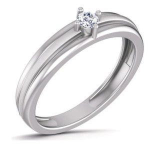 Diamond Ring In 18Kt Gold (3.380 Gram) With Diamonds (0.10 Ct) For Men