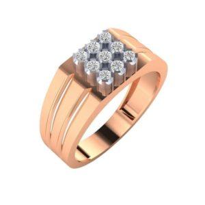 Diamond Ring In 18Kt Gold (7.430 Gram) With Diamonds (0.34 Ct) For Men