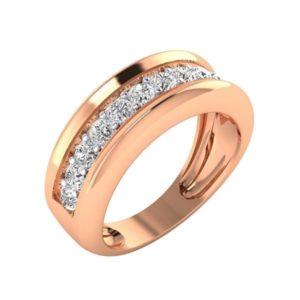 Diamond Ring In 18Kt Gold (6.800 Gram) With Diamonds (0.98 Ct) For Men