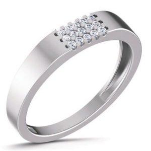 Diamond Ring In 18Kt Gold (4.260 Gram) With Diamonds (0.20 Ct) For Men