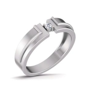 Diamond Ring In 18Kt Gold (6.290 Gram) With Diamonds (0.07 Ct) For Men