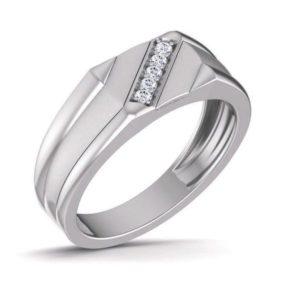 Diamond Ring In 18Kt Gold (5.480 Gram) With Diamonds (0.10 Ct) For Men